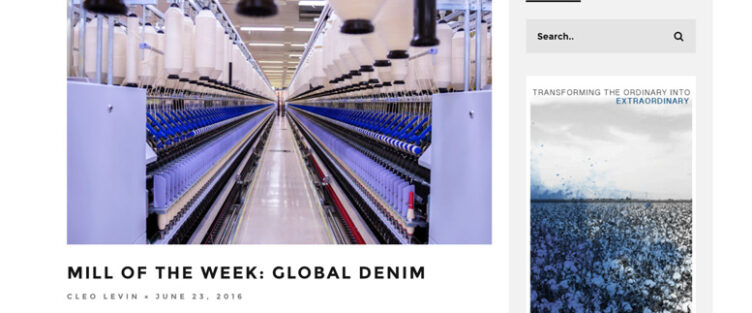 Global Denim is Mill of the Week