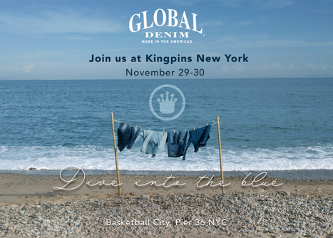 Global Denim® atenderá el Kingpins Show para exponer Primavera/Verano 19-20